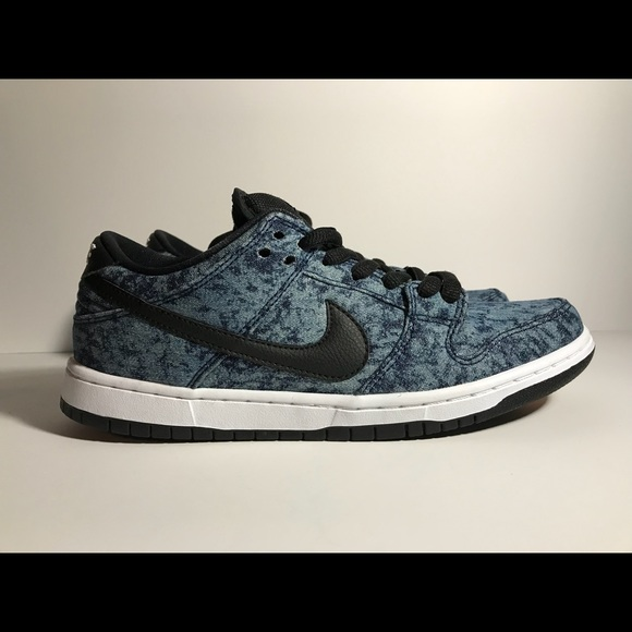 4ff3ab08f66d Nike SB Dunk low Pro midnight navy black and white.  M 5a7d0feef9e501aade101c46